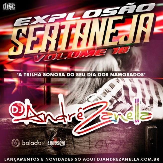 CAPA EXPLOSÃO SERTANEJA 18 DJ ANDRE ZANELLA